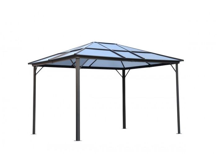 Pergola TENERIFE aluminium 3x3,6m - moustiquaire