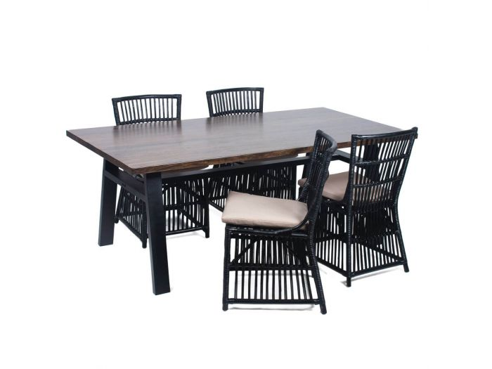 Table de jardin 200cm KENYA Noyer massif