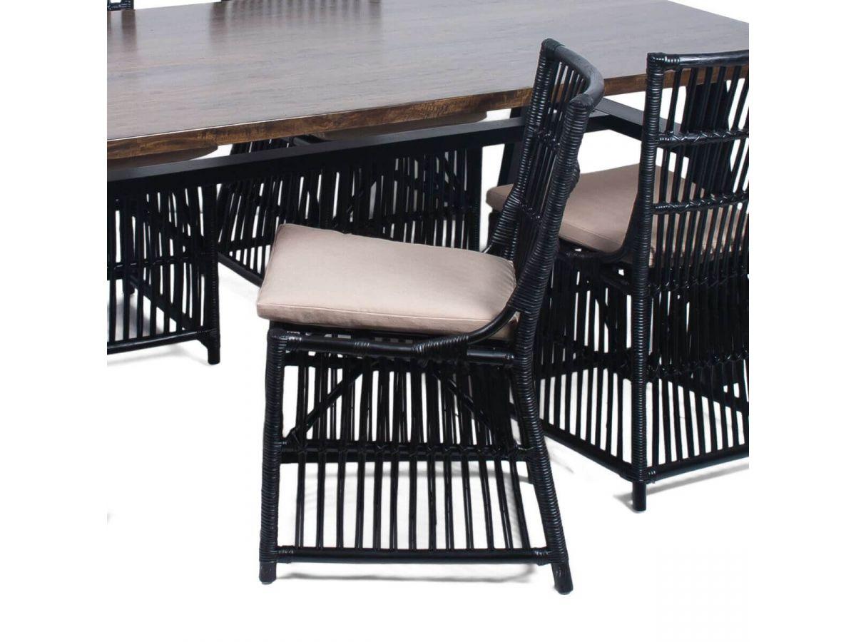 Chaise de jardin KENYA Noir