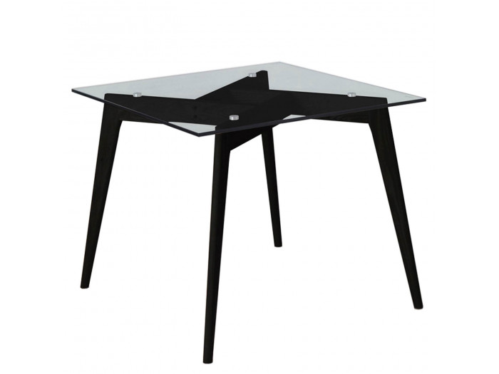 Table ZELI Noir 90 x 90