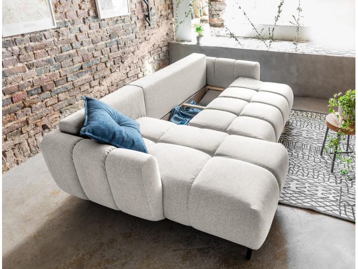 Canapé d'angle réversible convertible coffre JOY