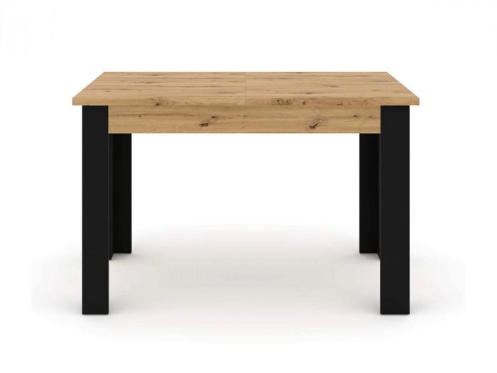 Table extensible 120/160 cm NUKA Chêne et noir
