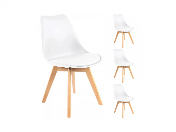 Lot de 4 chaises MIKO Blanc