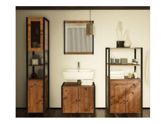 Meuble de salle de bain 60cm 2 portes SACONDE