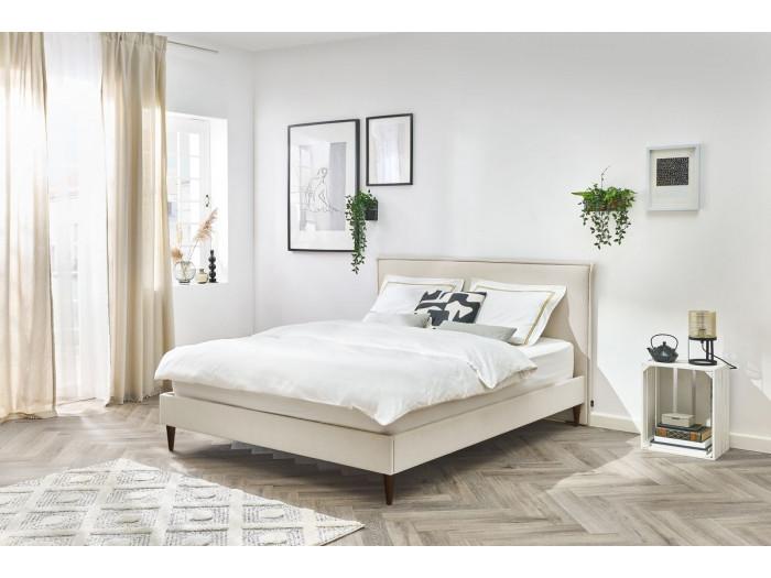 Structure de lit SARY avec lattes massives pieds bois wengé 180 x 200 cm