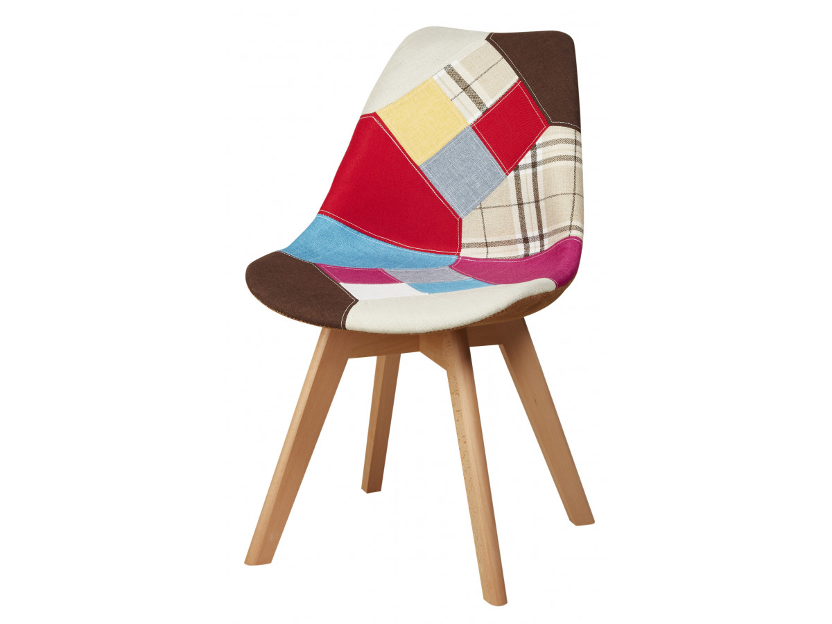 Chaise patchwork style scandinave PODOS Multicolore