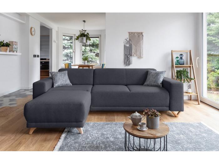 Canapé d'angle réversible fixe BELLA