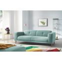 Canapé droit fixe LUNA avec pouf