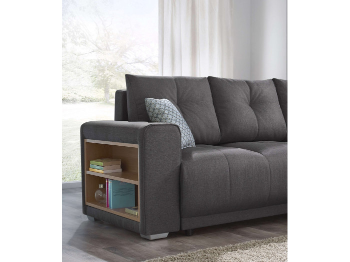 Canapé d'angle convertible + étagère LISBONA