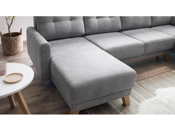 Canapé d'angle convertible coffre XXL BALIO