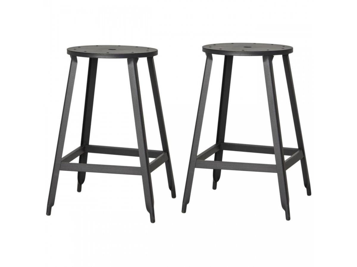 Lot de 2 tabourets de bar MANUFACTURE