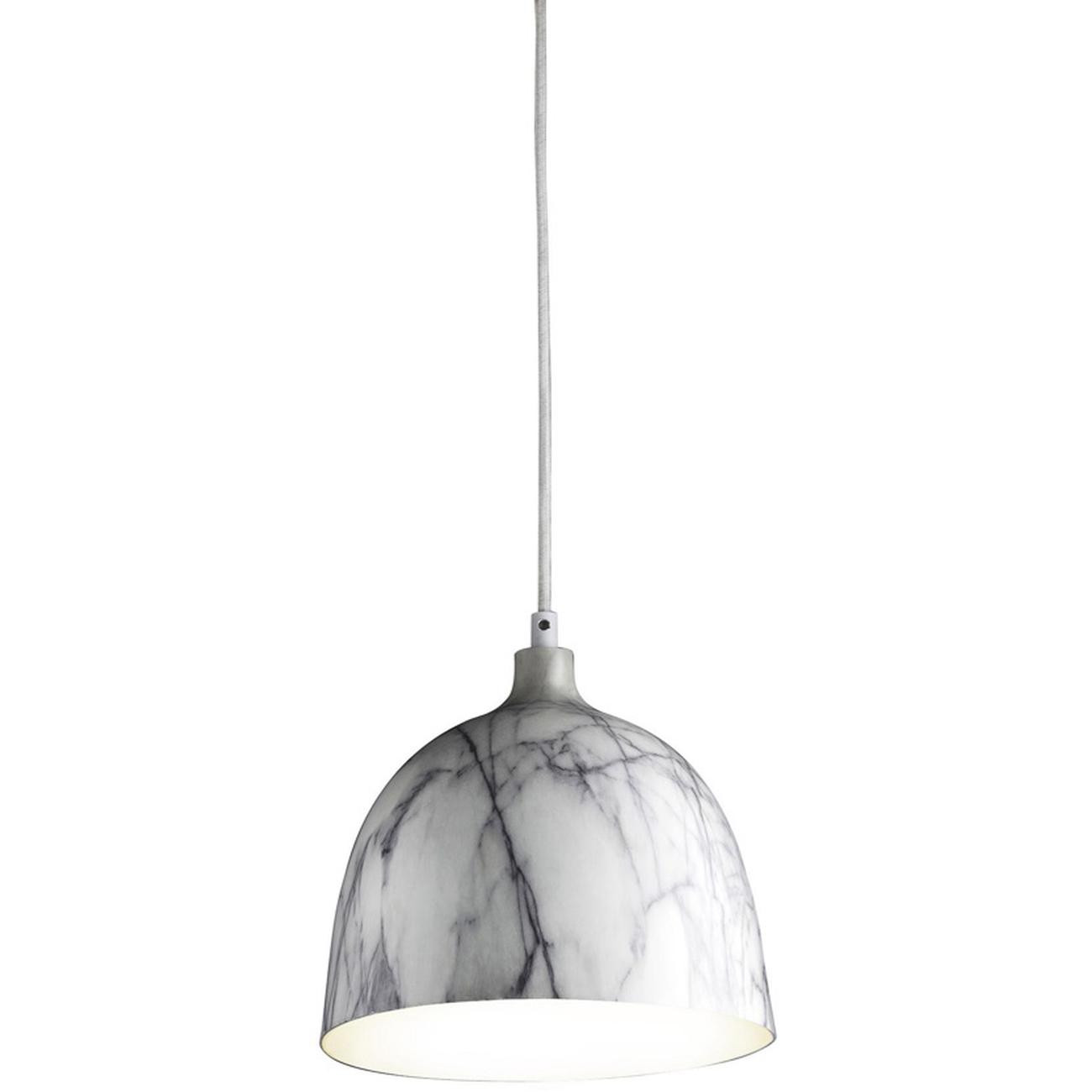 Suspension MARBEL gris et blanc