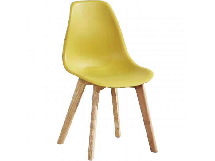 Lot e 4 chaises Sacha style scandinave