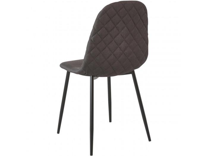 Lot de 4 chaises tissu DEAUVILLE