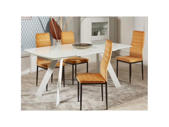 Lot de 4 chaises en velours VILMAUR