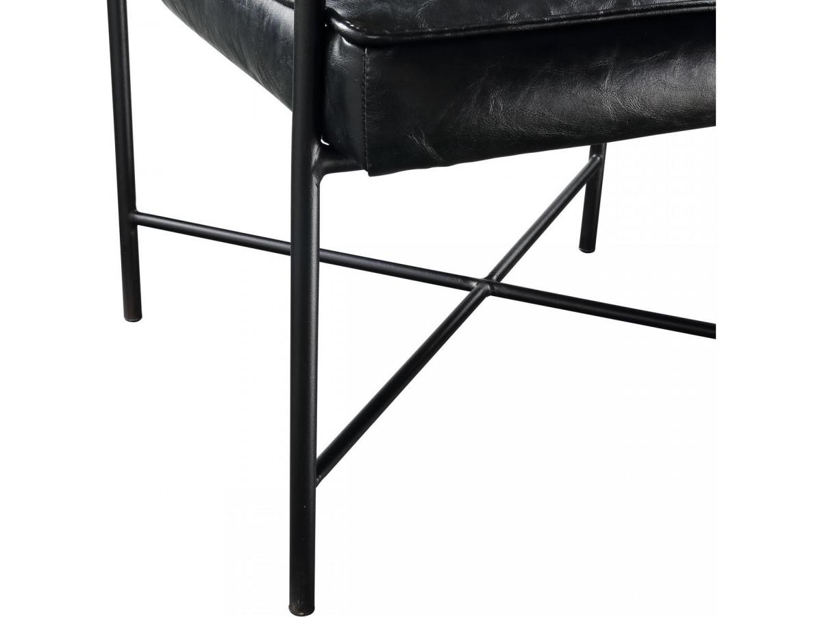 Fauteuil PARKER noir vintage