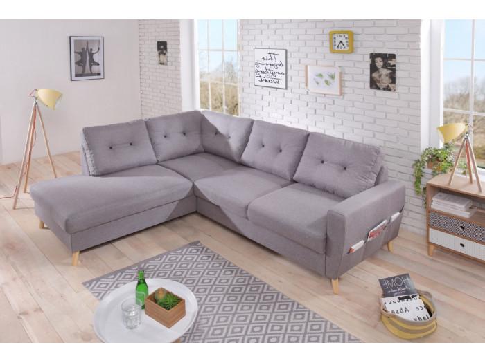 Canapé d'angle L fixe SCANDI