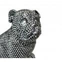 Statue elegante de chien en polyresine Rixi Argent3