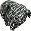 Statue elegante de chien en polyresine Rixi Argent4