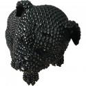 Statue elegante de chien en polyresine Rixi Noir4