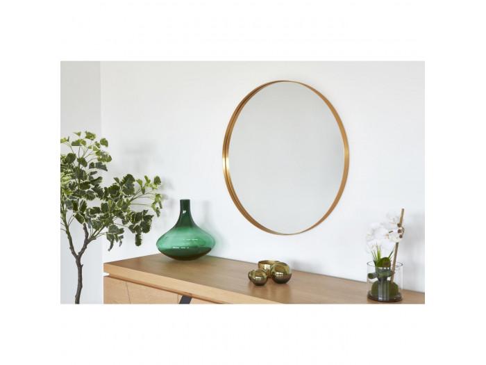 Miroir et tendance de forme ronde en aluminium Graz2