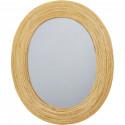 Miroir et tendance de forme ovale avec structure en rotin Baden1