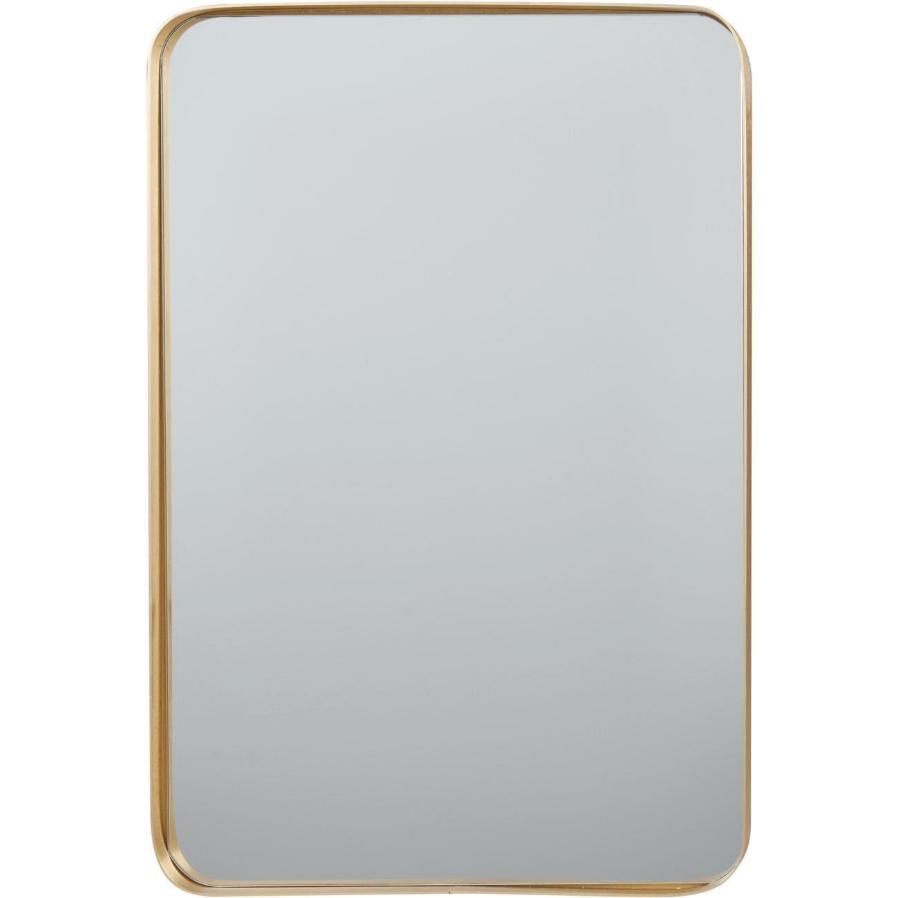 Miroir et tendance de forme rectangulairee en aluminium Traun1