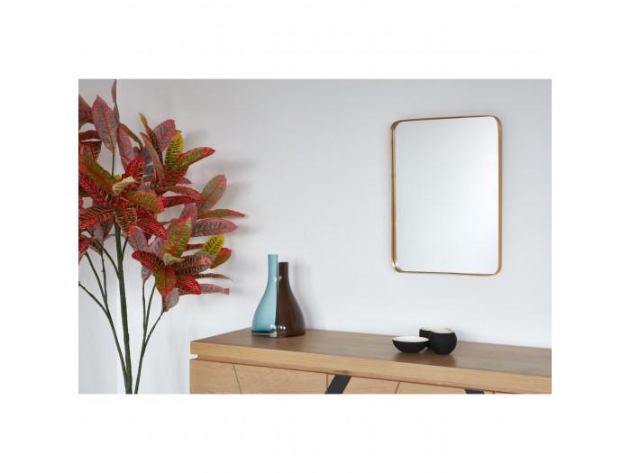 Miroir et tendance de forme rectangulairee en aluminium Traun2