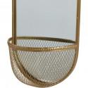 Miroir et tendance de forme ovale avec structure en metal et son panier Volg3