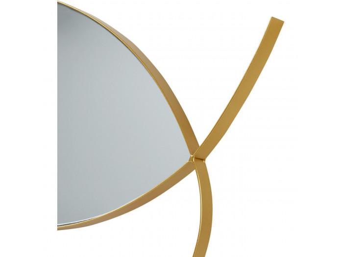 Miroir et tendance en forme poisson avec structure en metal Olga Doré3