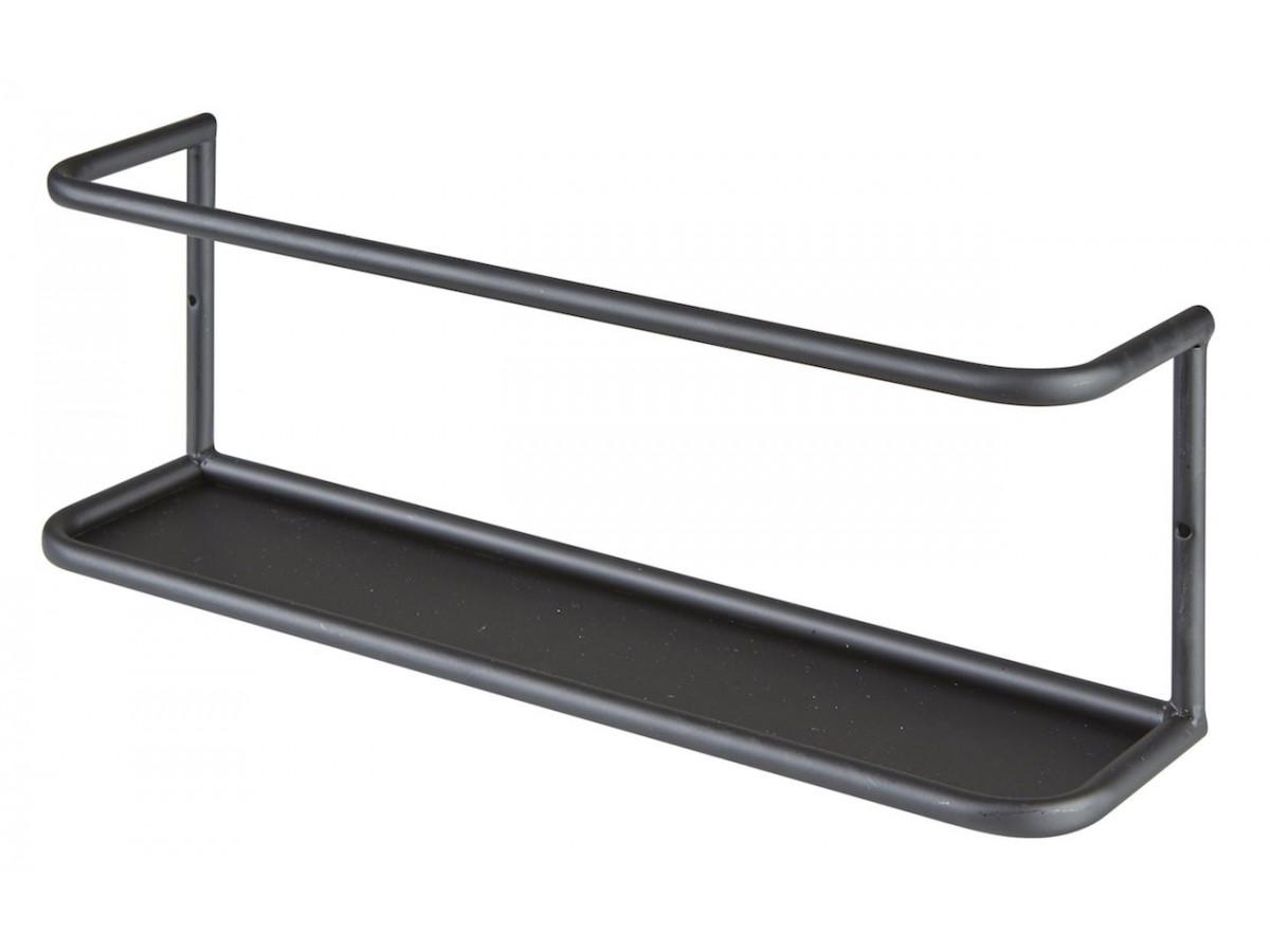 Etagere en metal noir avec tablette a fixer Bari3