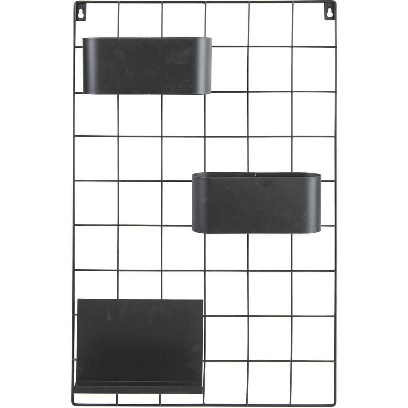 Etagere en metal noir avec tablette et bac a fixer Catane1