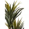 Plante artificielle en polyethylène a 153 feuilles et son pot noir Olla3