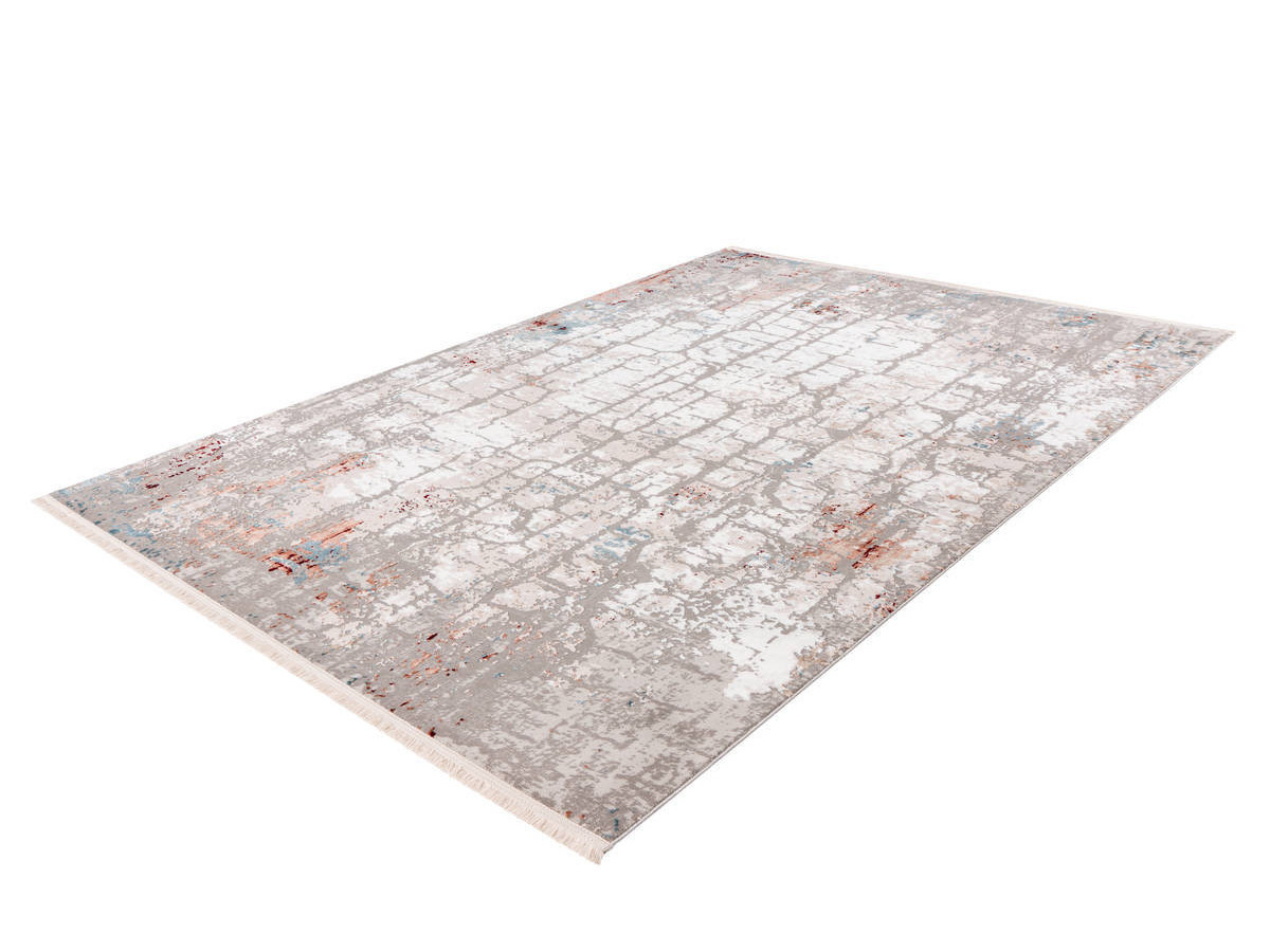 Tapis ARROW Gris / Rose saumon 80cm x 150cm