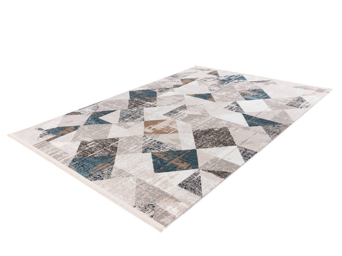 Tapis LORI Gris / Bleu 80cm x 150cm