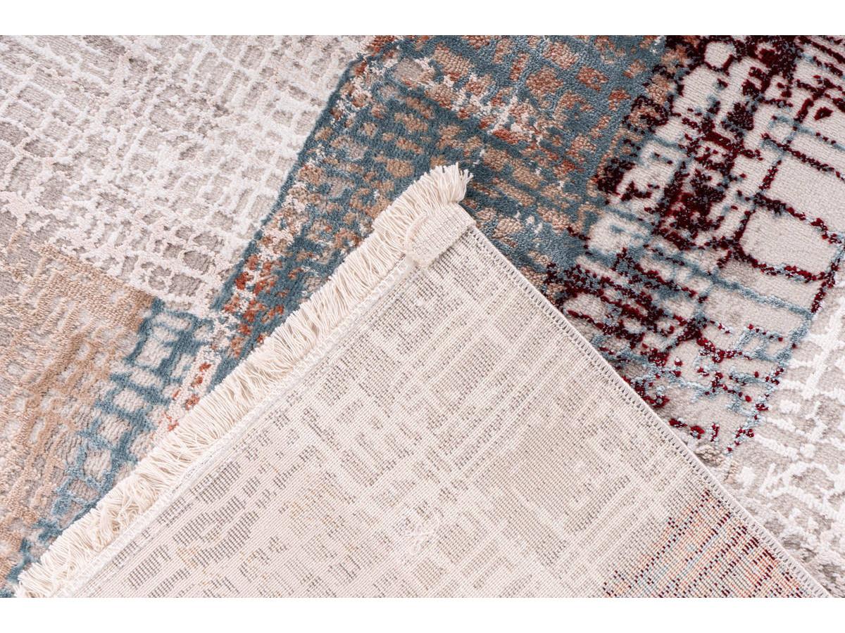 Tapis ZINEB Gris / Rose saumon 80cm x 150cm5
