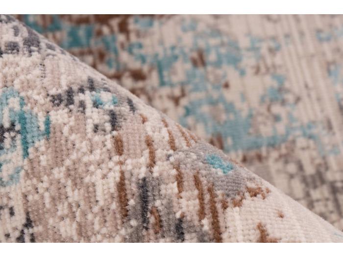 Tapis VERA Taupe / Turquoise 120cm x 170cm4