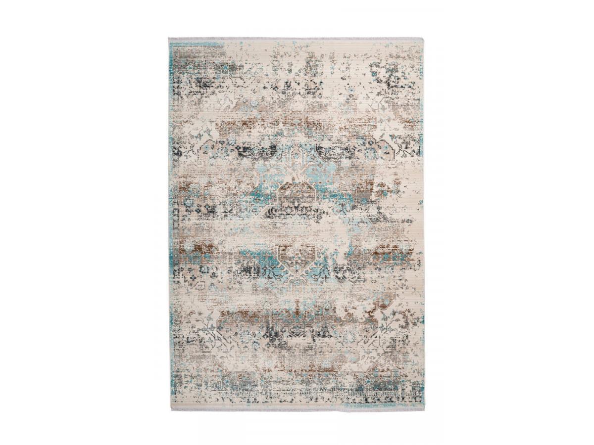 Tapis VERA Taupe / Turquoise 80cm x 150cm3