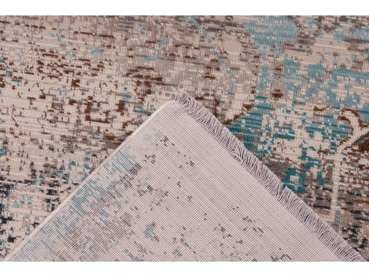 Tapis VERA Taupe / Turquoise 80cm x 150cm5