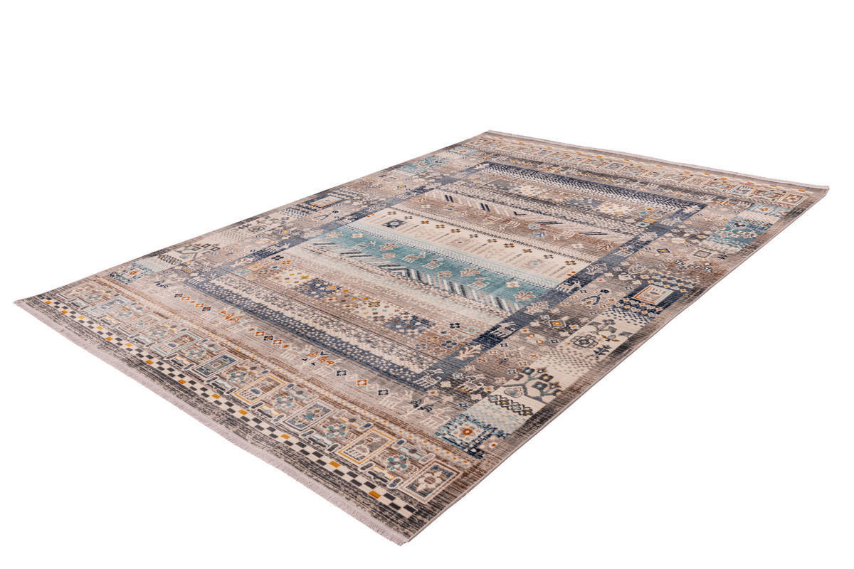 Tapis VIKI Marron / Bleu 120cm x 170cm2