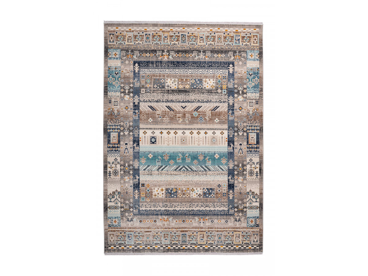 Tapis VIKI Marron / Bleu 160cm x 230cm3