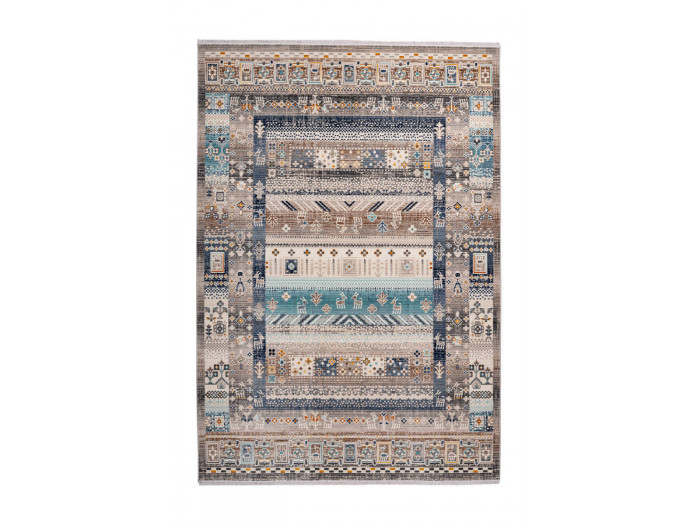 Tapis VIKI Marron / Bleu 80cm x 150cm3