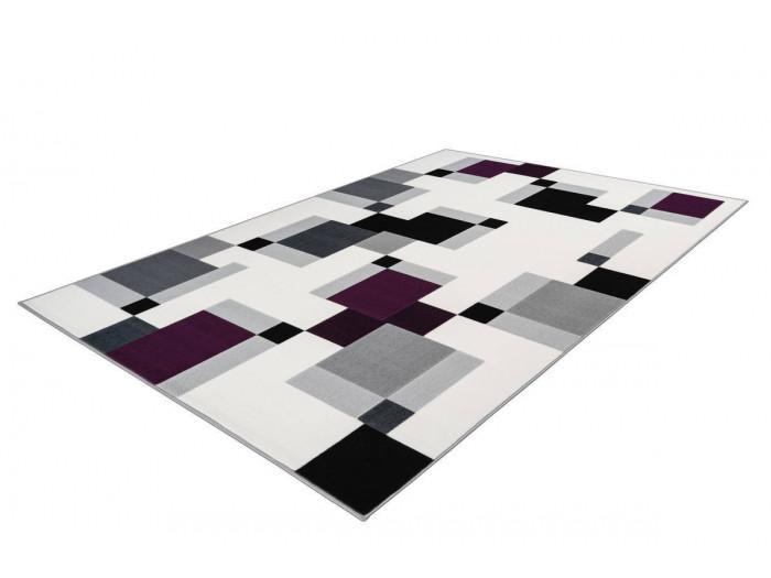 Tapis LUCIO Ivoire / Violet 120cm x 170cm