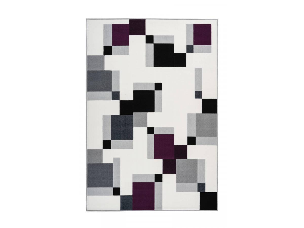 Tapis LUCIO Ivoire / Violet 120cm x 170cm3