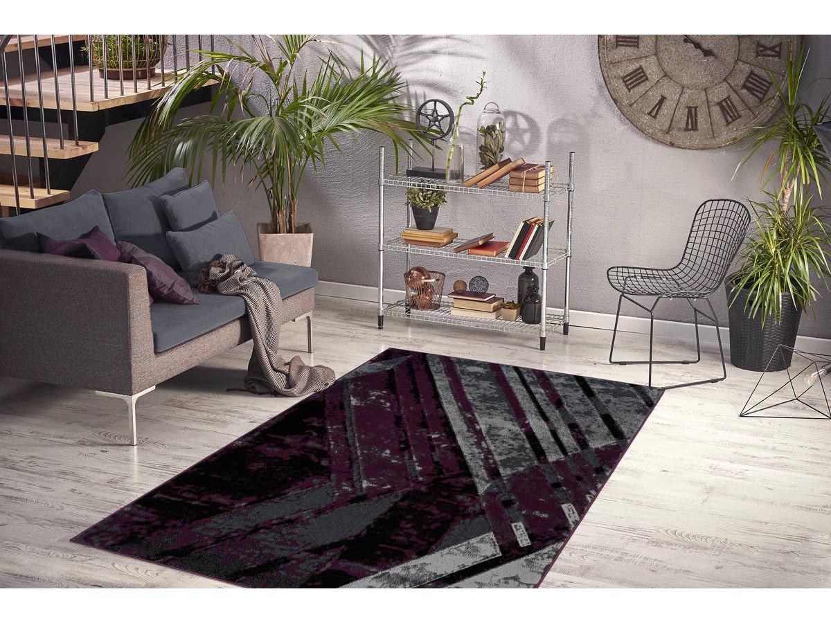 Tapis LUCIO Gris / Violet 120cm x 170cm1