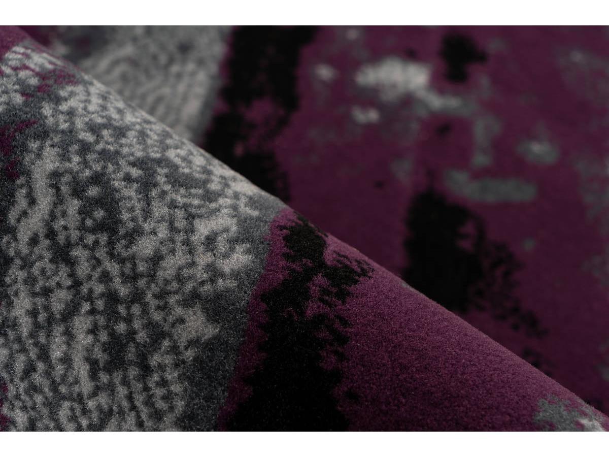 Tapis LUCIO Gris / Violet 160cm x 230cm4