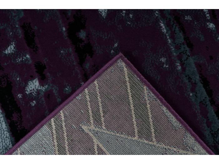 Tapis LUCIO Gris / Violet 80cm x 150cm5