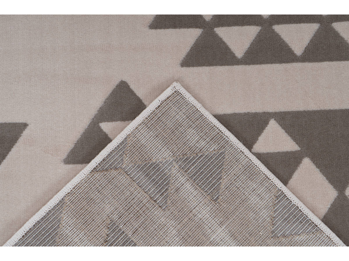 Tapis ZIKA Crème / Taupe 160cm x 230cm5
