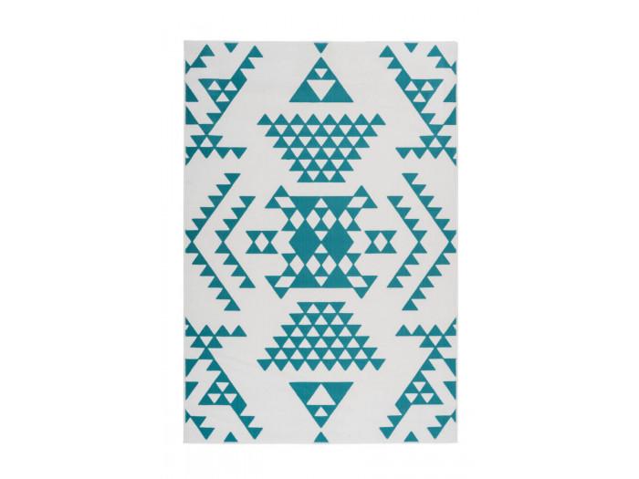 Tapis ZIKA Blanc/ Turquoise 120cm x 170cm3