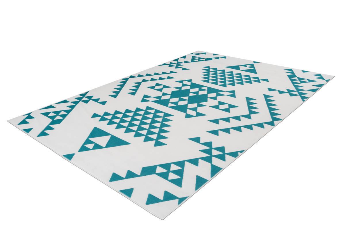 Tapis ZIKA Blanc/ Turquoise 200cm x 290cm2